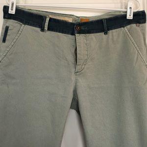 Pilcro and the Letterpress trouser w/ lace detail